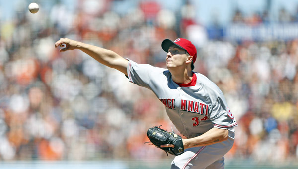 Cincinnati starting pitcher Homer Bailey pitched 6.2 no-hit innings before settling for a three-hitter as the Reds blanked the San Francisco Giants 4-0 Sunday. Bailey pitched his sixth career complete game, struck out seven and walked one. (MCT Direct Photo)