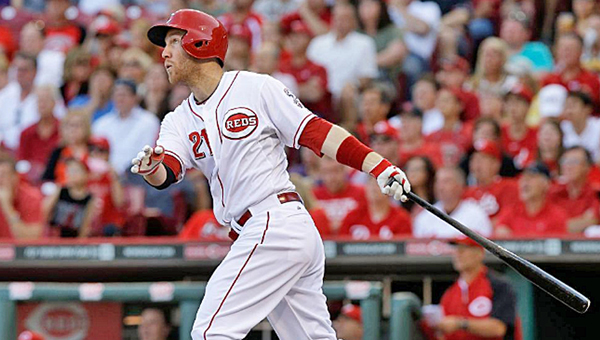 Cincinnati third baseman Todd Frazier hit a solo home run in the first inning but the Reds lost to the Giants 3-2 Wednesday. (Photo Courtesy of The Cincinnati Reds)
