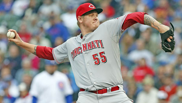 Cincinnati's Mat Latos pitched seven strong innings and got his first win of the season as the Reds beat the Chicago Cubs 4-1 Wednesday. (MCT Direct Photo)