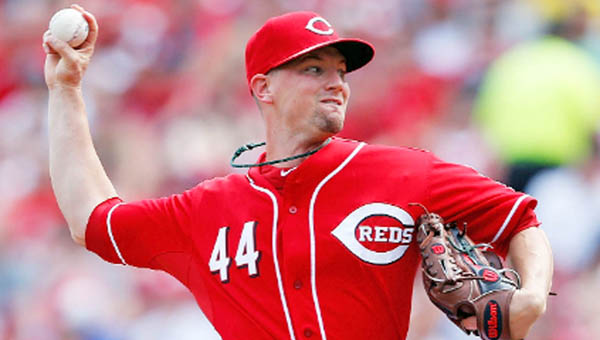 Cincinnati's Mike Leake pitched eight strong innings Saturday as the Reds routed the Toronto Blue Jays 11-1. It was Leake's fifth win of the season. (Courtesy of The Cincinnati Reds.com)