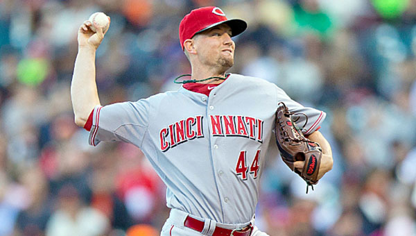 Cincinnati pitcher Mike Leake threw eight strong innings and struck out 12 as the Reds beat the San Francisco Giants 3-1 on Thursday. (MCT Direct Photos)