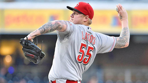 Cincinnati pitcher Mat Latos gave up just one hit but left after seven innings trailing 1-0 at San Deigo on Monday. The Padres held on to blank the Reds 1-0. (Photo Courtesy of The Cincinnati Reds)