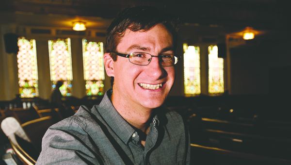THE TRIBUNE/JESSICA ST JAMES Caleb LaFond is the new pastor at the First United Methodist Church in Ironton.