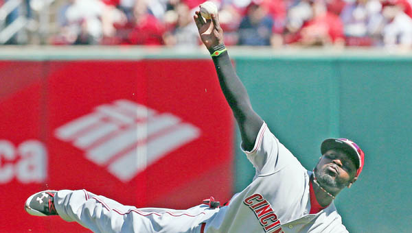 Cincinnati Reds' second baseman Brandon Phillips will have surgery Friday to repair torn tendons in his thumb. He is expected to miss up to six weeks. (MCT Direct Photos)