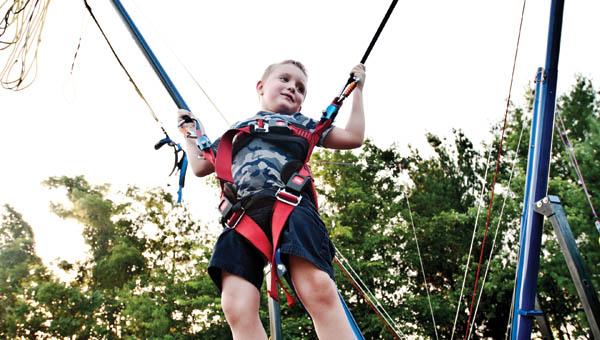 A child enjoys his time at Coal Grove Family Fun Days.