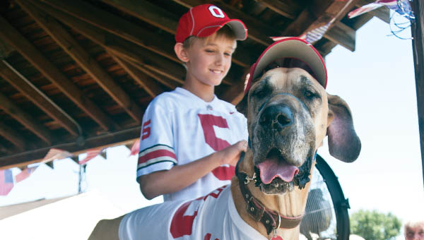Austin Webb and his Great Dane, Charlie, participated in the owner-dog look-alike contest.