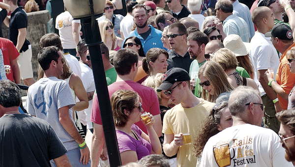 The Tribune/Jessica St. James Huntington's Rails & Ales beer festival sold out for the second straight year.