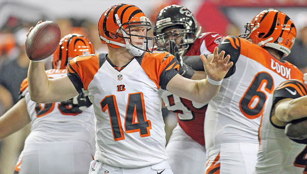 Cincinnati Bengals quarterback Andy Dalton agreed to a $115 million, six-year contract on Monday. (MCT Direct Photo)