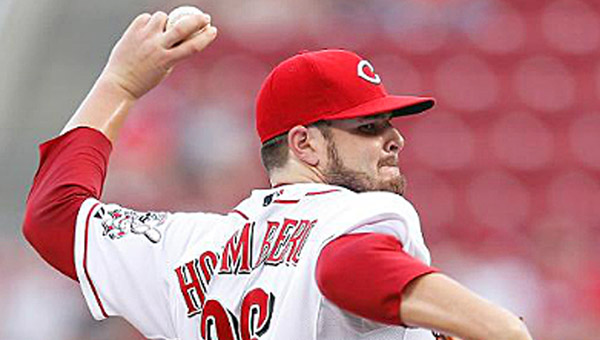 David Holmberg's second pitching start for the Cincinnati Reds resulted in just 2.2 innings of work during an 8-0 loss to the Atlanta Braves on Thursday. (Courtesy of The CIncinnati Reds.com)