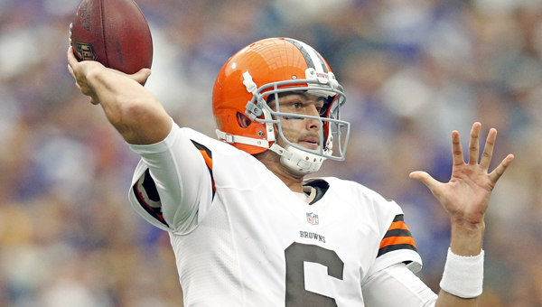 Six-year veteran Brian Hoyer was named the Cleveland Browns' starting quarterback over rookie Johnny Manziel by coach Mike Pettine. (MCT Direct Photos)