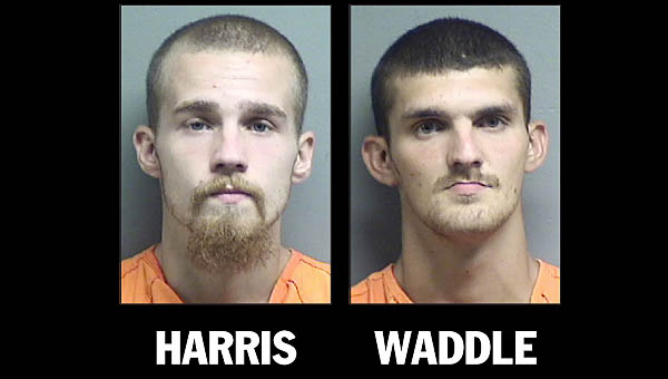 A rash of car break-ins and theft of two pistols on Thursday led to the arrest of two Coal Grove men.