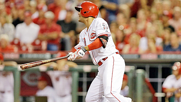 Cincinnati second baseman Kristopher Negron had two hits and an RBI as the Reds blanked the Cleveland Indians 4-0 Thursday. (Courtesy of the Cincinnati Reds.com)