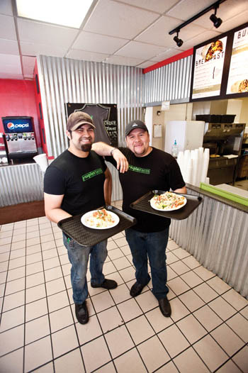 Connected to the Shell gas station on 13th Street near the Ashland YMCA, Suplex Tacos is tag-teamed by brothers Ron and Sergio Garcia.
