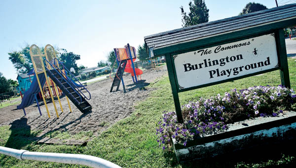 Through grants and donations the Burlington Playground, located on the banks of the Ohio River, features updated playground equipment.