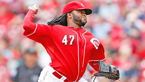 Cincinnati pitcher Johnny Cueto pitched eight scoreless innings and won his 18th game as the Reds blanked the St. Louis Cardinals 1-0 on Thursday. (Courtesy of the Cincinnati Reds.com)