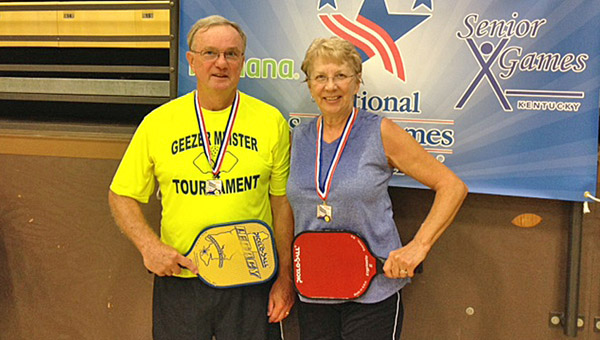 Randy and Gena Lilly of Ironton won the 2014 Kentucky Senior Games pickleball championship held in Frankfort. (Photo Submitted)