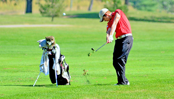 Coal Grove senior golfer Brent Morgan was the medalist Wednesday in the Division III sectional golf tournament as he led the Hornets to the team title and a berth in the district. (Kent Sanborn of Southern Ohio Sports Photos)