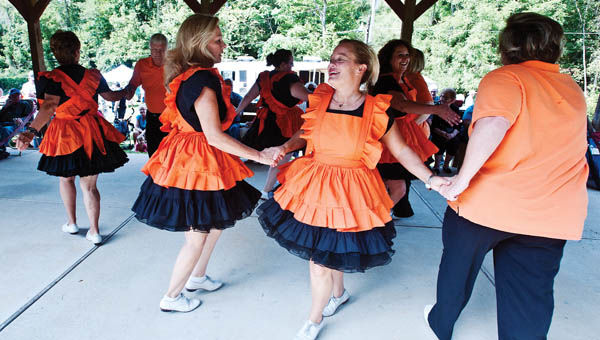 The Lincoln County Cloggers perform at the annual festival in South Point.