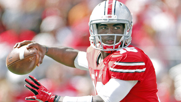 Ohio State red-shirt freshman quarterback J.T. Barrett has stepped in and filled injured Braxton Miller's shoes with some outstanding numbers this season. (MCT Direct Photos)