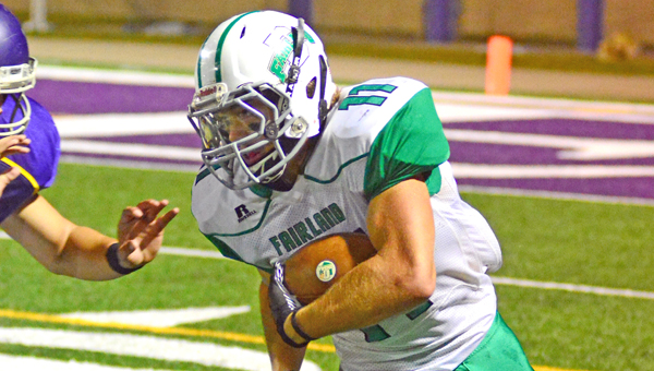 Fairland Dragons' senior running back Colton Brumfield (11) picks up yardage in last week's game against Lucasville Valley. (Kent Sanborn Of Southern Ohio Sports Photos.com)