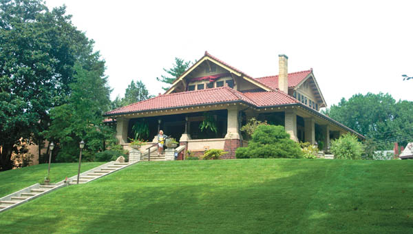 Sitting on a knoll over looking Ritter Park in Huntington, W.Va., is the home of Grant and       Tracy Shy.