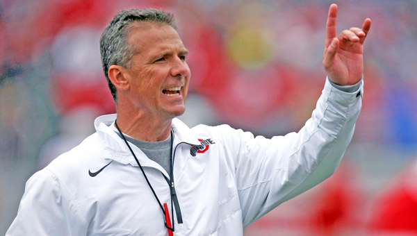 Ohio State Buckeyes head coach Urban Meyer talked to his team this week about where his team stands in its national championship drive. (MCT Direct Photo)