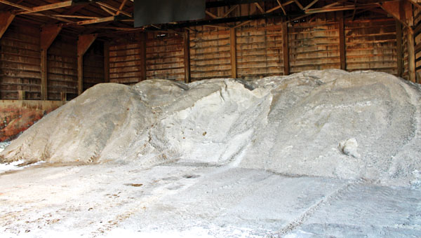 Doug Cade, Lawrence County Engineer, said the county will have about 1,200 tons of salt on hand to combat icy roads this winter.