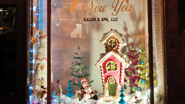 New You Salon and Spa at 113 S. Third St., won the people's choice award for the Ironton In Bloom Christmas window display.