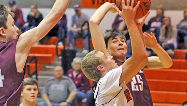 Ironton FIghting Tigers' Phillip Kratzenberg (4) drives for a layup as he scores two of his career-high 23 points in a 91-68 win over Ashland on Saturday. Kratzenberg hit six 3-pointers in the win. Ironton hosts Portsmouth on Tuesday. (Courtesy of Tim Gearhart of Tim's News & Novelties of Ironton)