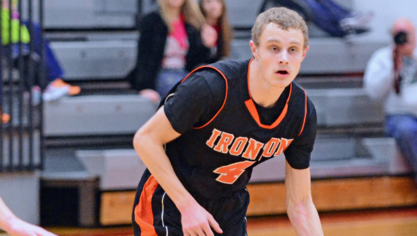 Ironton Fighting Tigers' Phillip Kratzenberg (4) scored 18 points in a 71-48 rout of Huntington St. Joseph on Wednesday in the Huntington Invitational. (Kent Sanborn of Southern Ohio Sports Photos)