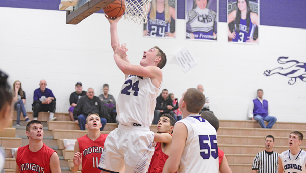Chesapeake Panthers' Brad Meadows scores inside for two of his 20 points. The Panthers beat Hillsboro 59-50 on Saturday in the annual Beast of the Southeast. (Kent Sanborn of Southern Ohio Sports Photos)