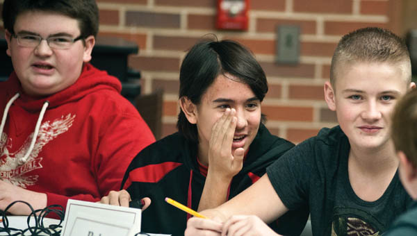 THE TRIBUNE/JESSICA ST JAMES Rock Hill Middle School students competed against Symmes Valley.