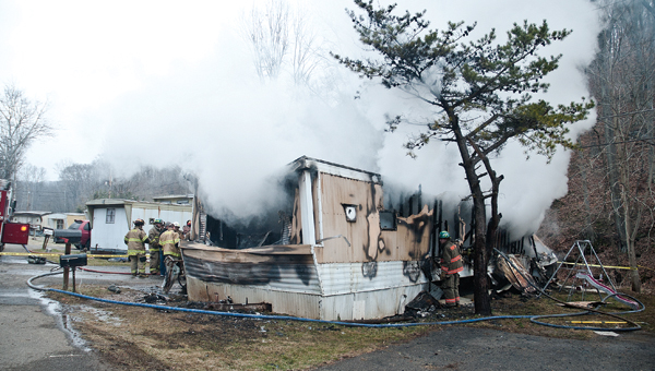 A mother and three children have died in a mobile home fire this morning.
