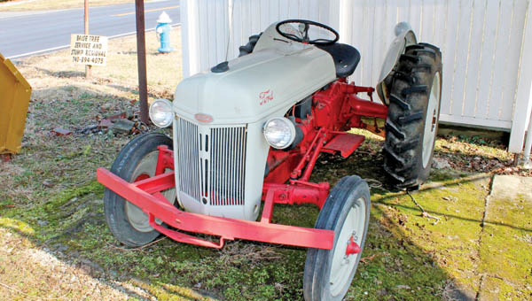 1947 model tractor built from scratch by Clarence Ferguson at Ferguson Farm Implement on Township Road 1213 in Chesapeake.