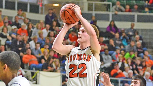 Ironton Fighting Tigers' senior guard Tristan Cox was one of seven area boys' basketball players named to the Associated Press All-Ohio teams on Tuesday. (Kent Sanborn/Southern Ohio Sports Photos.com)