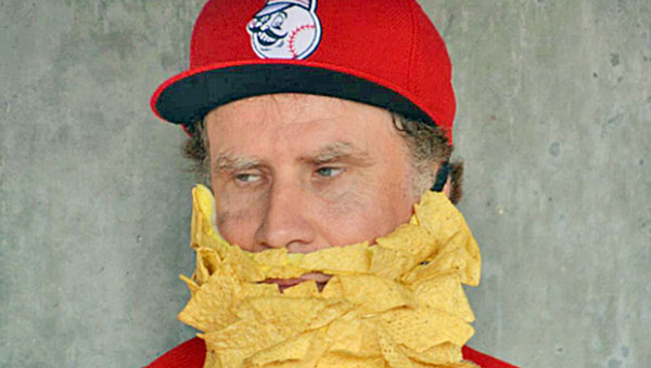 Comedian and actor Will Ferrell played for the Cincinnati Reds and Arizona Diamondbacks on Thursday as part of a fundraiser for cancer. Ferrell is show sporting a nachos and cheese beard. (Courtesy of the Cincinnati Reds.com)