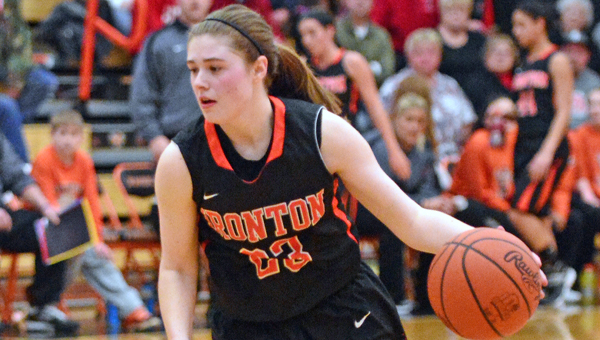 Ironton Lady Fighting Tigers' Sydney Webb scored 16 points during Monday's Division III district semifinal game. Ironton routed Eastern Brown 50-31 to reach Friday's finals. (Kent Sanborn of Southern Ohio Sports Photos)