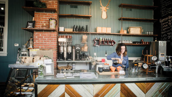 Customers may come to Bittersweet for the coffee (or tea), but it's the down-to-earth atmosphere and warmth that makes them stay. Photography by Toril Lavender