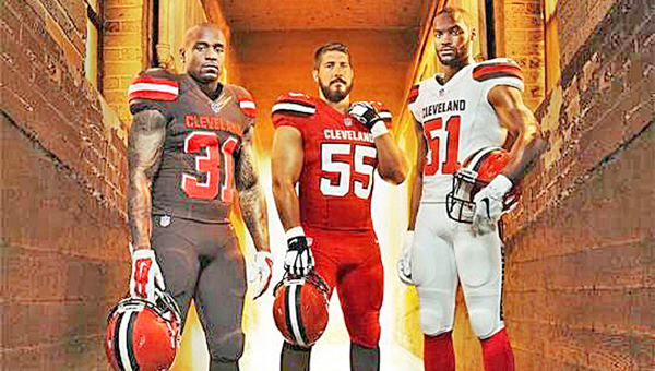 The Cleveland Browns unveiled their new team uniforms on Tuesday. (Courtesy of the Cleveland Browns.com)
