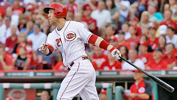 Cincinnati third baseman Todd Frazier hit a 3-run homer in the eighth inning to give the Reds a 5-2 win over the Pittsburgh Pirates to open the season on Monday. (MCT Direct)