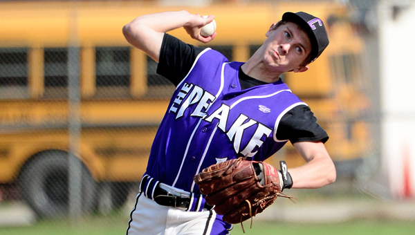 Chesapeake pitcher Jacob Henson threw a one-hitter as the Panthers blanked the South Point Pointers 1-0 on Tuesday. (Kent Sanborn of Southern Ohio Sports Photos)