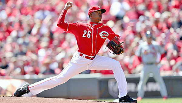 Cincinnati rookie pitcher Raisel Iglesias was impressive in his major league debut on Sunday, but the Reds still lost 7-5 to the St. Louis Cardinals in 11 innings. (Photo Courtesy of The Cincinnati Reds)