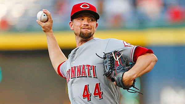 Cincinnati Reds' pitcher Mike Leake threw eight shutout innings and hit a home run in a 5-1 win over the Atlanta Braves on Thursday. (Photo Courtesy of The Cincinnati Reds)