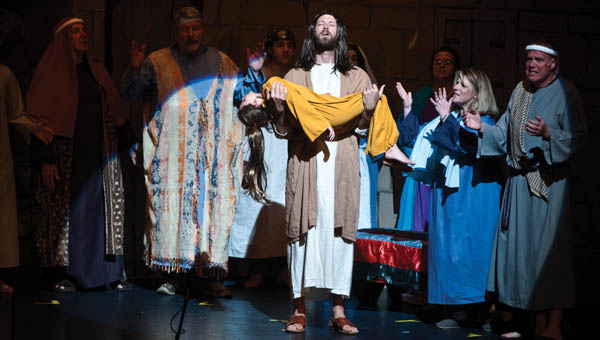 """Josh Campbell plays the role of Jesus Christ in the production of """"Life of Christ."""" The production features a cast from 18 Lawrence County churches. Show times will be Friday and Saturday starting at 7 p.m at Ironton High School auditorium. Tickets are required."""