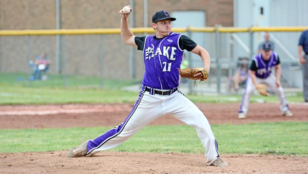 Chesapeake Panthers' Blake Lester pitched nine innings in a 13-inning win over the South Point Pointers on Sunday. The Panthers won 3-2 to claim the Division III sectional title. (Kent Sanborn of Southern Ohio Sports Photos)