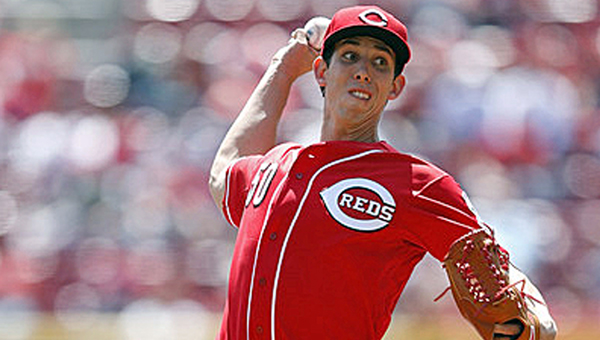 CIncinnati Reds' rookie pitcher Michael Lorenzen allowed just two hits during his six and one-third innings of work on Sunday but failed to get a decision. The Reds snapped a 2-2 tie with six runs in the seventh inning as they beat the Washington Nationals 8-2. (Photo Courtesy of The Cincinnati Reds)