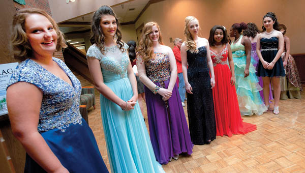 Contestants for the 2015 Memorial Day Pageant lined up before the start of the event Saturday at Ohio University Southern.