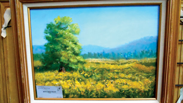 The work of artist Betty Fields is on display at the Ironton branch of the Briggs Lawrence Library.