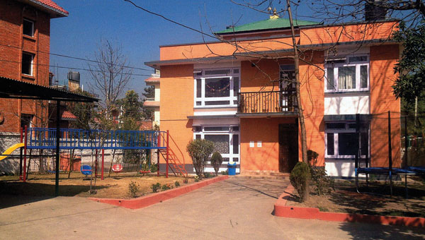 The school in Nepal that former Dawson-Bryant educator Eric Holmes, of Coal Grove, was involved with.
