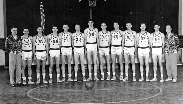 Bevo Francis (32) was the key player for the 1953-54 Rio Grande basketball team that was showcased against some of the finest teams in the nation and enjoyed enormous success. Francis — the most famous athlete in Rio Grande history — died Thursday at age 82. (Photo submitted)